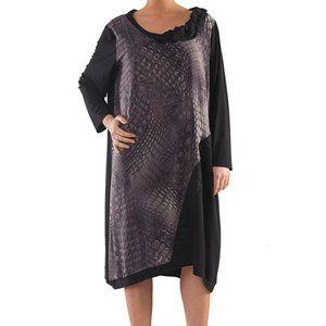 Plus Size Digital Print Tulip Dress - La Mouette
